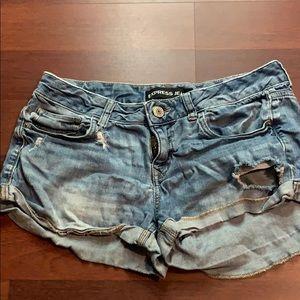 Express ripped shorts